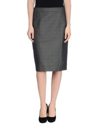 Joseph Knee Length Skirts Dark Green