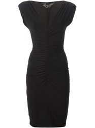 Norma Kamali Ruched Detail Fitted Dress Black