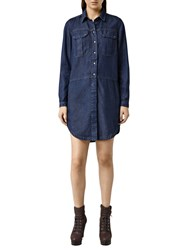 Allsaints Louise Military Dress Indigo Blue