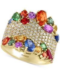 Effy Collection Watercolors By Effy Multi Gemstone 4 1 2 Ct. T.W. And Diamond 1 1 12 Ct. T.W. Statement Ring In 14K Gold