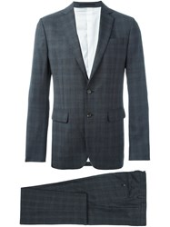 Dsquared2 Checked Suit Grey