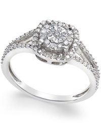 No Vendor Cushion Cut Diamond Promise Ring 1 4 Ct. T.W. In Sterling Silver