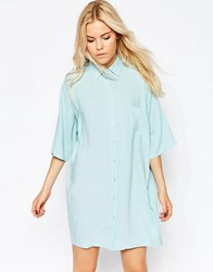 Motel Stella Shirt Dress Chalk Blue