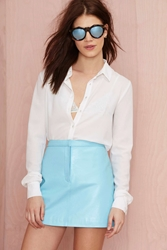 Nasty Gal Missy Skins Sunrise Leather Mini Skirt