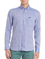 Faconnable Chambray Shirt Blue