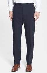 Santorelli Men's Big And Tall Flat Front Travel Trousers Midnight