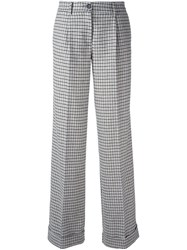 P.A.R.O.S.H. 'Adel' Straight Leg Trousers White