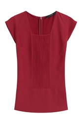 Etro Silk Top With Pleats Red