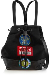 Opening Ceremony Izzy Wool Felt And Leather Backpack