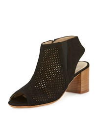Amalfi By Rangoni Lerici Perforated Suede Sandal Black