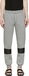 Kris Van Assche Grey Painted Stripe Lounge Pants
