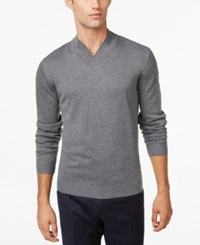 Ryan Seacrest Distinction Modern Shawl Collar Sweater Only At Macy's Flannel Heather