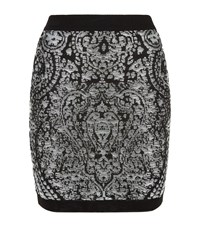 Balmain Metallic Knit Mini Skirt Female Silver