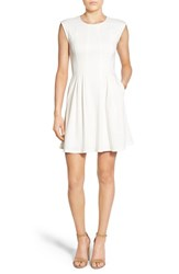 Speechless Women's Cap Sleeve Skater Dress Eggshell