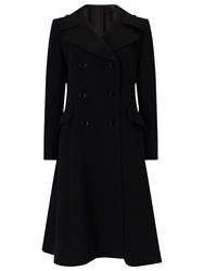 Jacques Vert Petite Fit And Flare Coat Black
