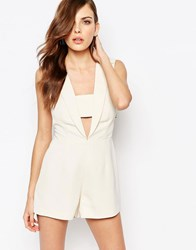 Finders Keepers Cut Out Playsuit Cream