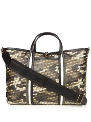 Pierre Hardy Camocube Print Coated Canvas Tote Green Multi