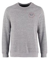 Brixton Wheeler Sweatshirt Heather Grey Maroon Mottled Dark Grey