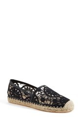 Halogen 'Serene' Crochet Lace Espadrille Slip On Women Black