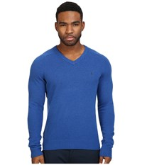 Original Penguin P55 100 Lambswool V Neck Sweater Classic Blue Men's Sweater