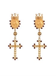 Dolce And Gabbana Crown And Metal Earrings