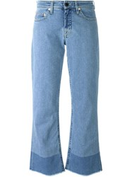 Victoria Victoria Beckham Cropped Flared Jeans Blue