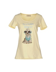 Just For You T Shirts Light Yellow