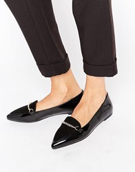Asos Livia Pointed Loafers Black