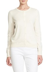 Women's Cece By Cynthia Steffe Floral Back Mixed Media Cardigan Milky Petal