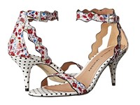 Chinese Laundry Rubie Red White Floral Print High Heels