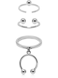 Maria Francesca Pepe Pierced Set Of 3 Rings