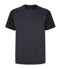 Wooyoungmi Contrast Sleeve T Shirt Male Navy