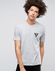 Love Moschino Triangle Logo T Shirt Grey