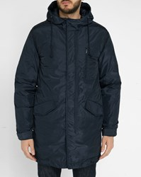 Hartford Navy Johnby Removable Feather Lining Parka Blue