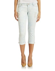 Guess Cropped Skinny Jeans Light Blue