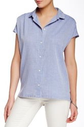 Trovata Solid Blouse Blue