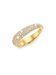 Kwiat Cobblestone Diamond And 18K Yellow Gold Band Ring