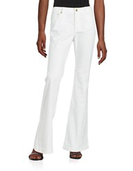 Michael Michael Kors Wide Leg Flared Jeans White