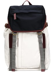 Marni Tri Color Backpack White