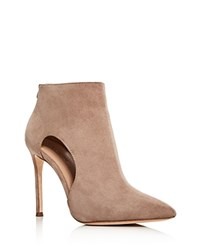 Pour La Victoire Cierra High Heel Pointed Toe Booties Taupe