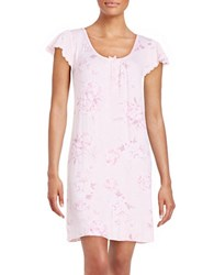 Miss Elaine Short Floral Nightgown Pink