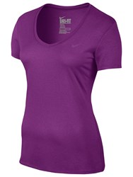 Nike Legend V Neck Training T Shirt Cosmic Purple