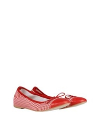 George J. Love Ballet Flats Red