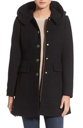 Guess Petite Women's 'Mod' Hooded Jacket Black