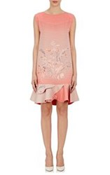 Giorgio Armani Women's Bird Of Paradise Print Silk Peplum Dress Pink S