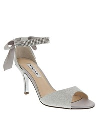 Nina Vinnie Ankle Strap Pumps Silver
