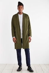 Your Neighbors Linen Duster Jacket Olive
