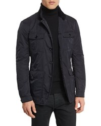 Tom Ford Lightweight Down Fill 4 Pocket Military Jacket Navy