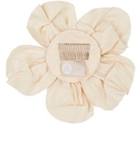 Lanvin Women's Cotton Silk Wedding Flower Hair Comb Cream Nude Cream Nude