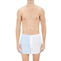 Sleepy Jones Colorblocked Boxers White